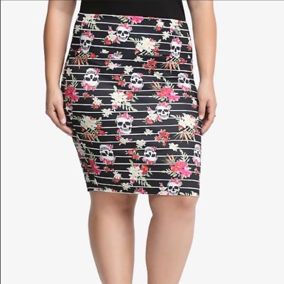 21e850d6fe torrid Skirts   Skull Striped Pencil Skirt   Poshmark